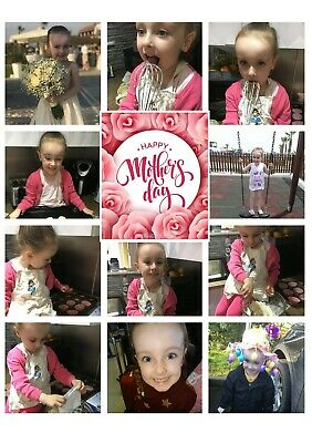 Mothers Day Card PERSONALISED PHOTO COLLAGE A5 FREE ENVELOPE 11 IMAGES!