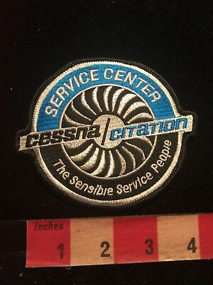 CESSNA CITATION SERVICE CENTER - Embroidered Patch Jet Turbine