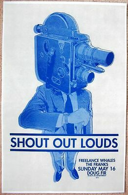 SHOUT OUT LOUDS 2010 Gig POSTER Portland Oregon Concert