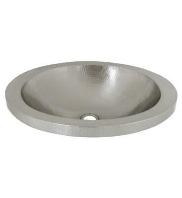 """Native Trails 21"""" Single Bowl Hand Hammered Drop-In Oval Bathroom Sink, CPS43"""
