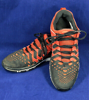 f47176e380ae Nike Free Trainer 5.0 Black Red Men s Size 9.5 Finger Trap Weave 579809-601