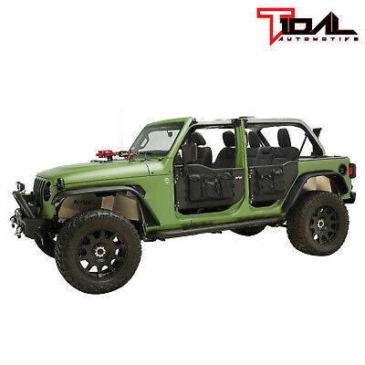 Tidal Safari Tubular Door Full Set with Mirror for 18-19 Jeep Wrangler JL 4 Door