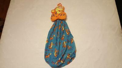 Vintage Disney Pooh's Tigger Blue Diaper Stacker, Laundry Bag,baby Nursery Decor