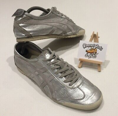 another chance 29e79 adadc ASICS ONITSUKA TIGER MEXICO 66 DELUXE TH9J4L NIPPON MADE Silver Trainers UK  7.5
