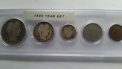 1900-P Circulated Year Set - 5-Coin Set