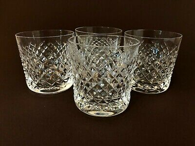 4 Vintage Waterford Alana Old Fashioned Crystal Tumbler Glasses 9oz Gothic Mark