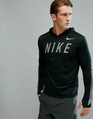 994c70b6d89c AQ4849-010 New with tag Men s Nike Flash reflective Miler hooded running  shirt
