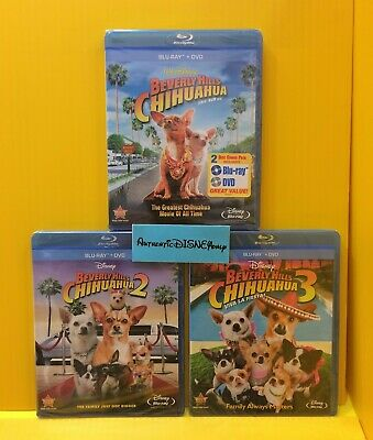 BEVERLY HILLS CHIHUAHUA 1 2 3 BLU-RAY/ DVD TRILOGY LOT SET COLLECTION Authentic
