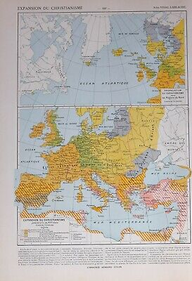 Historical Map Expansion Of Christianity Roman Catholic Church ~ North Spread