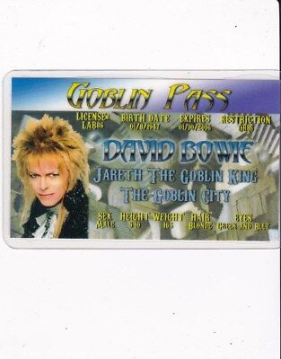 POP ROYALTY David Bowie Drivers License fake id i.d. card