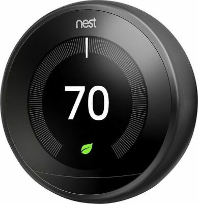 Nest Learning Thermostat 3rd Gen Works w/ Google Home & Amazon Alexa - Black