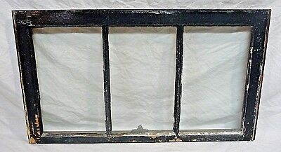Antique Craftsman Style Three Pane Window - C. 1915 Fir Architectural Salvage