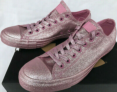 968717a2d841 Converse Chuck Taylor All Stars CT Lo 162993C Glitter Basketball Shoes Men s  10