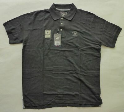 1cfb5632c Beverly Hills Polo Club Heather Piqué Shirt Size Large Modern Fit Charcoal  Gray