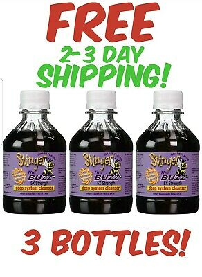3 STINGER THE BUZZ 5x Strength Detox Cleanse Grape 8 oz  FREE 2-3 day Shipping