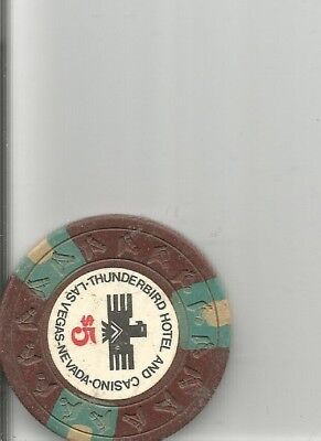 $5 thunderbird obsolete las vegas nevada casino chip  lot