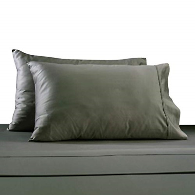 Bed Bath & Beyond 330 Thread Count 100% Cotton Sateen King Pillowcases in Grey 2