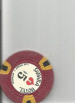 $5 sahara stripes obsolete las vegas nevada casino chip  lot