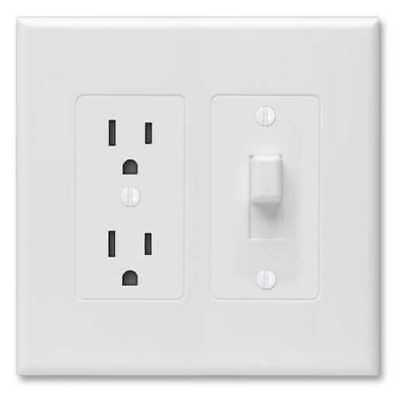 Lot 4 Hubbell Taymac Revive Toggle & Outlet Light Switch Wall Plate Cover 2772W