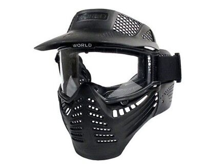 Full Face Tactical Combat Protection Mask Safety Goggles with Visor New