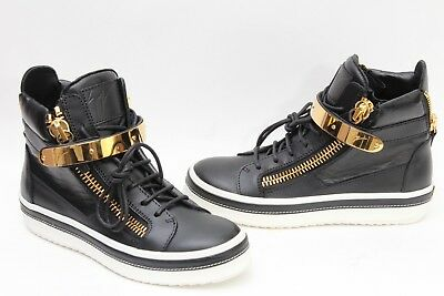4f6c756de0fbc Giuseppe Zanotti Side Zip Sneaker Women's Black/ White/ Gold Sz 37.5 / US  7.5