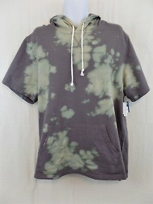 MEN'S HOODIE PURPLE Tie Dye Shirt short sleeves Size L NWT