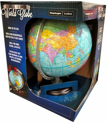"Replogle 12""/30cm World Globe ideal for home school or office NEW"