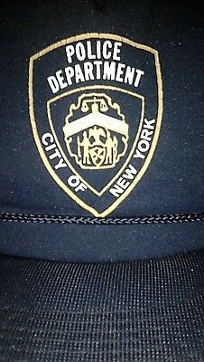 f5402d92 Vintage City of New York Police Department Snapback Cap Hanes Headware 1970  80's