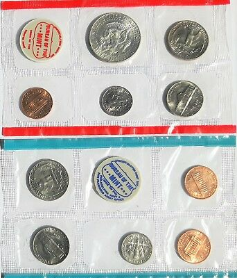 1968 US Mint Set 10 coin set with 40% Silver Half Dollar #34739