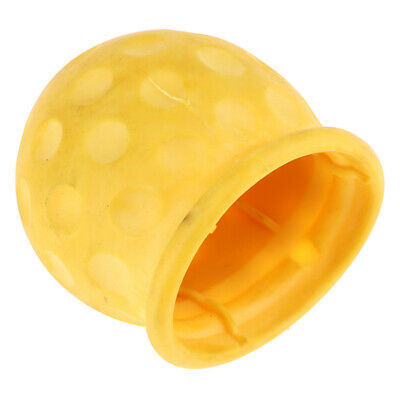 Yellow Tow Ball bar Cap Cover Towing for Car Van Trailer Towball Protection