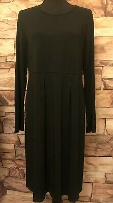 d7ea289c3fa J Jill Wearever Collection Womens Tunic Dress Black Stretch Size M NWOT