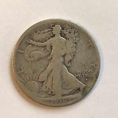 1916-D Denver Obverse Mint Silver Walking Liberty Half