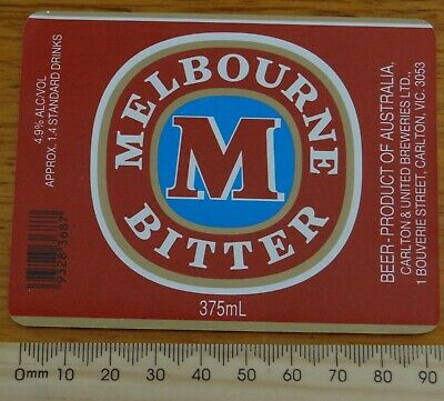 1 x 375ml MELBOURNE BITTER  AUSTRALIA COLLECTABLE BEER LABEL