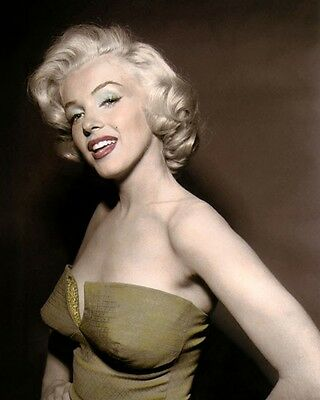 """MARILYN MONROE HOW TO MARRY A MILLIONAIRE 1953 8x10"""" HAND COLOR TINTED PHOTO"""