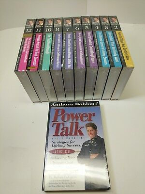 ANTHONY ROBBINS PERSONAL POWER II THE DRIVING FORCE! 21 Cassettes Mostly sealed