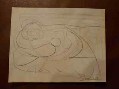 PABLO PICASSO - DRAWING ON PAPER, Art, Signed Artwork, Original