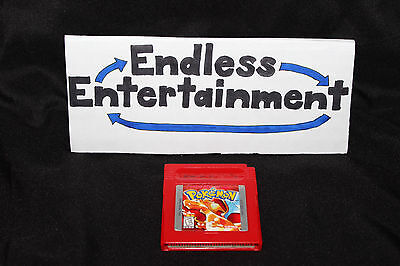 Pokemon Red Version Nintendo Game Boy Authentic Tested & Saves Cart Only!