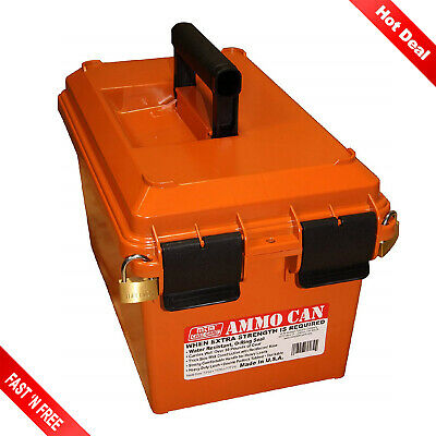 Military Ammo Crate Lightweight Heavy Duty Utility Box Caliber Bulk Storage Can