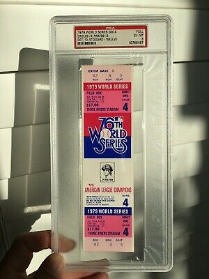 1979 World Series Tickets Game 4 5 (PICK ONE) Pittsburgh Baltimore PSA