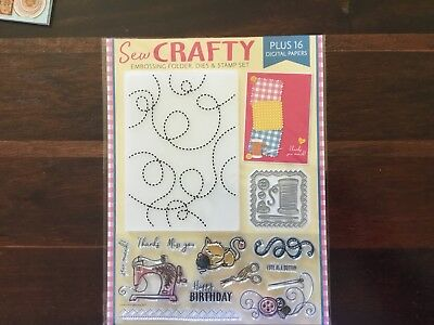 Sew Craft Embossing Folder, Dies And Stamp Set