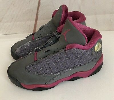 a2bc4a4df1b261 Jordan 13 Girls Toddler Shoes Size 9c Pink Gray