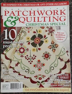 Patchwork & Quilting Magazine Vol.20 No.10 Christmas Special 10 Projects Quilts