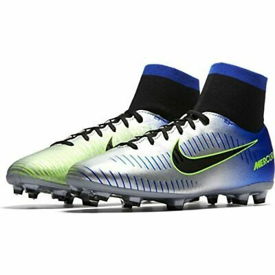 purchase cheap ad82c 65be0 Nike Jr Mercurial Victory VI DF FG Neymar Youth Soccer Cleats - Blue Silver  Sz 4