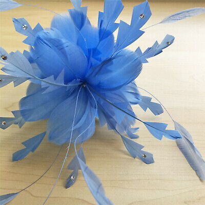 Stripped Coque Feather Goose Twisted Mount Millinery Hats Fascinator 80 Colours