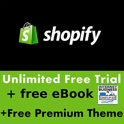UNLIMITED PREMIUM Shopify Account Free Apps and Features NO MONTHLY FEE NO CARD
