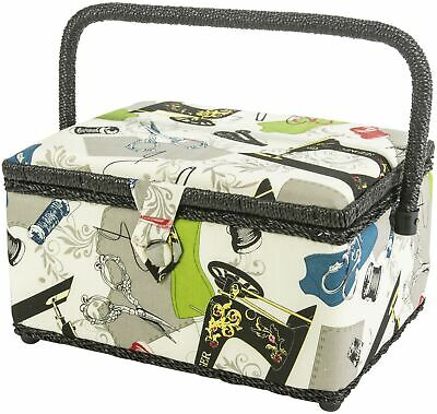 "Singer Sewing Basket-5.5""X10.5""X5.5"" Neutral Notions"