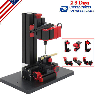 6 in1 Lathe DIY Machine Tool Kit Jigsaw Milling Lathe Drilling Machine US STOCK!