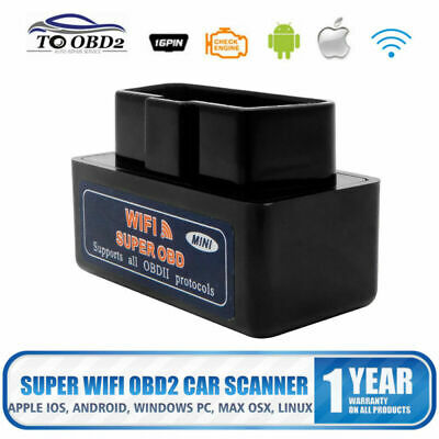 Super Wifi OBD2 Voiture Diagnostic Scanner Balayage Outil iPhone iOS Android PC