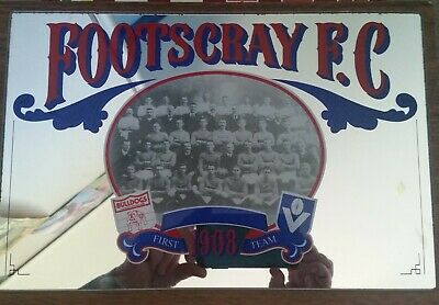 Mirror Mounted VFL 1908 Footscray Football Team