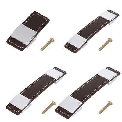 Leather Pulls Cabinet Drawer Cupboard Wardrobe Furniture Handle Knobs Pulls New